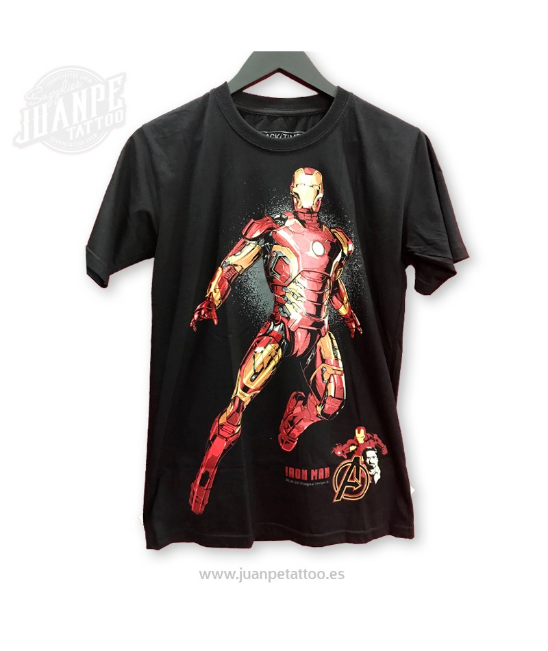 Camiseta Iron Man Marvel - Juanpe Tattoo Supplies 35a24d2b993b5