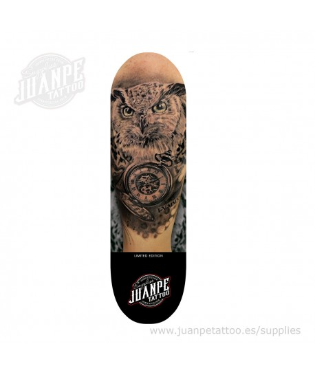 Tabla Skate Tatuaje Buho Juanpetattoo