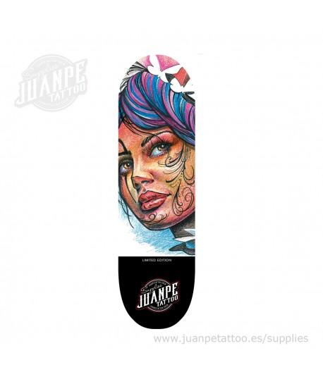 Tabla Skate Tatuaje Catrina 2 Juanpetattoo