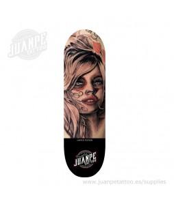 Tabla Skate Tatuaje Catrina 5 Juanpetattoo