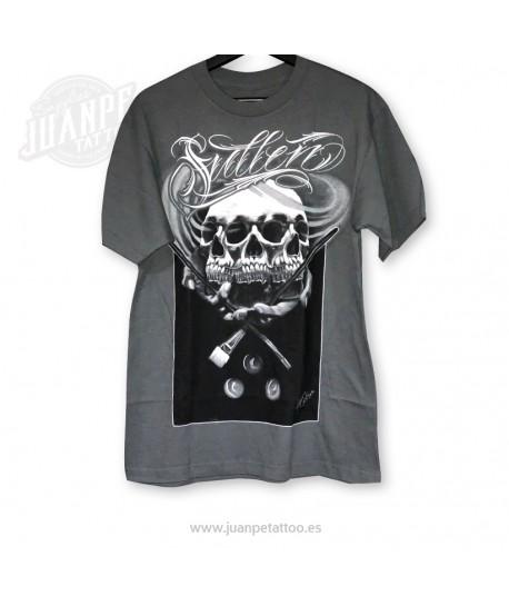 Camiseta Calavera manos frente(Sullen)