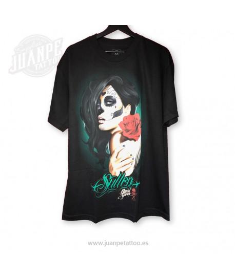 Camiseta Catrina Rosa  (Sullen)