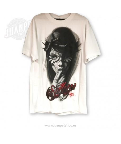 Camiseta Chica Catrina Blanco (Sullen)