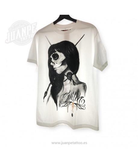 Camiseta Chica Calavera Blanca (Sullen)