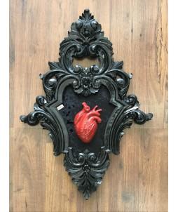 Cuadro Skullture – Corazón Rojo