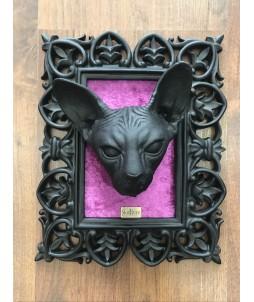 Cuadro Skullture - Cabeza Sphynx Negro