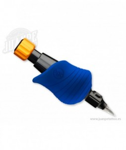 10 fundas de goma desechables para grips cheyenne - biohawk - azul