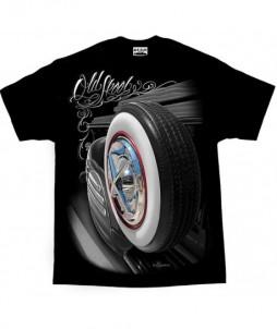 Camiseta de la vieja escuela - rueda antigua