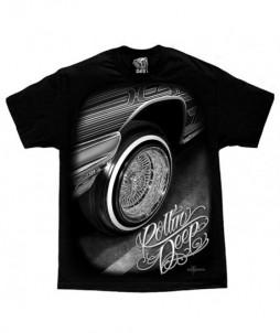 Camiseta de rueda de coche clásico