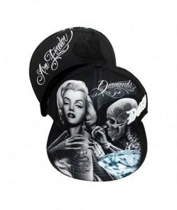 Gorra snapback con diseño urbano de tatuando y diamantes